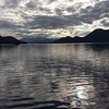 View up Johnstone Strait, Thurston Bay