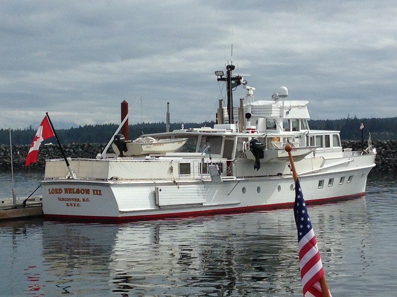 Lord Nelson III - beautiful yacht at Campbell River