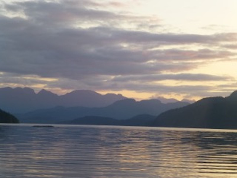 Johnstone Strait from Thurston Bay