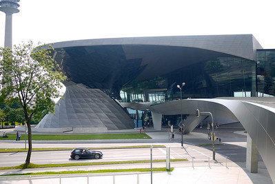 BMW World from the Museum side