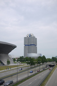 BMW Welt (World), HQ tower, and Museum