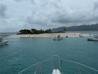 Sandy Spit on day trip from Tortola to JVD