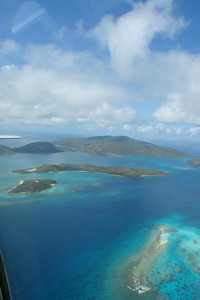Virgin Gorda from the air