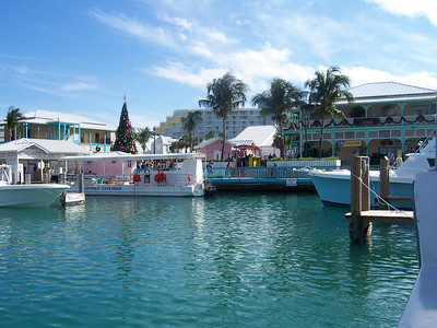 The marina is on the edge of the little town marketplace.  Cool place to hang out right across from the hotel area.
