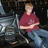 Jeremy in the Omaha airport at 6 a.m. Too early for us!