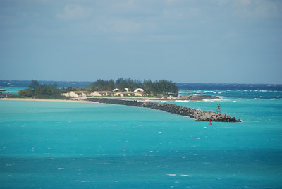 Ocean view from the ship in Nassau, Bahamas