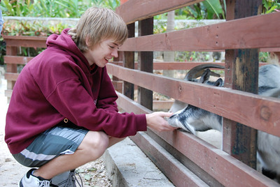 Jeremy at the petting zoo.