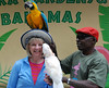At the end of the visit: a kiss from a parrot!