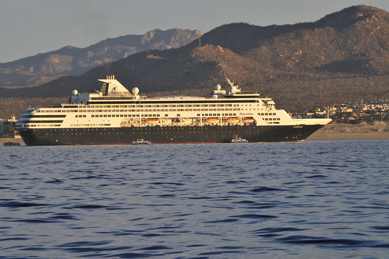 Cruise Ship as we passed by Cabo San Lucas in the early morning.  SO SO GLAD I<br /> was on a small boat.