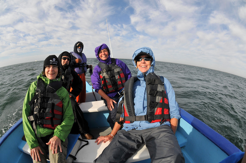 Our Gray Whale Panga - Joanne, Val, Joe, Liz and Skiff Driver