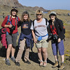 Val, Liz, Chris and Joanne on San Benito.  We went for a full day hike on this Island.<br /> Lots of beach combing and Seals here.  Found some sea glass.