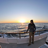 Liz and Sunset off the Pacific Ocean - with my Fisheye lens