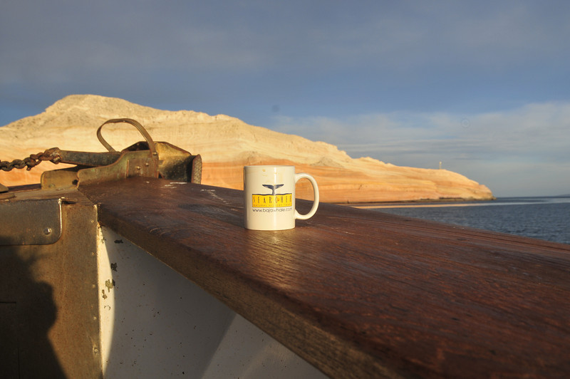 Sunrise off the Bow of Searcher at Isla San Jose.