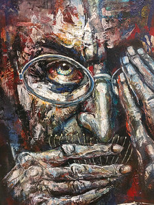 Detail of eye-catching painting. The artist is Miguel Najera Loera.