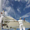 Lowering the mainsail