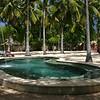 The saltwater pool at the resort on Nusa Lembongan