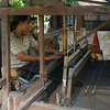 "Weaving <a href=""http://en.wikipedia.org/wiki/Ikat"">ikat</a> fabric at Sari Amerta Batik Colection"