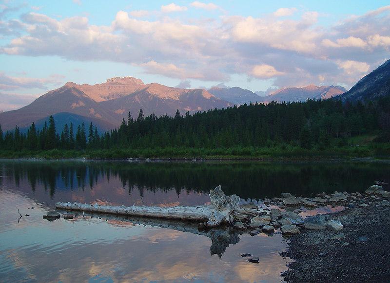Verillion Lakes at sunrise...it looks fake, but it isn't