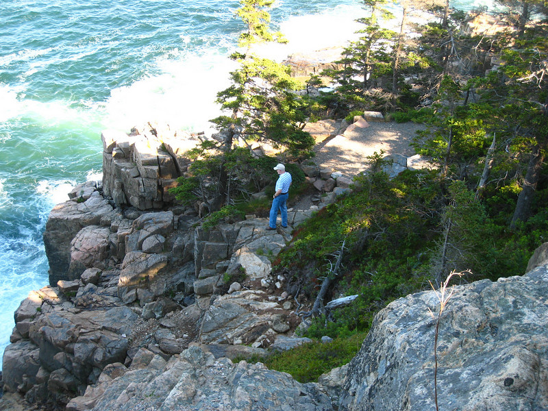 A view off of the loop road, Acadia,Scott, Otter cliffs.Acadia National Park.