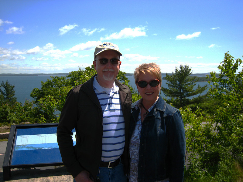 Going up to top of Cadillac Mountain, Bar Harbor,Carol &Scott.Acadia National Park.