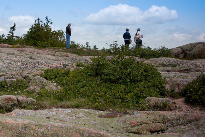 On top of Cadillac Mountain, Bar Harbor,Scott,Carol &Cathy.Acadia National Park.