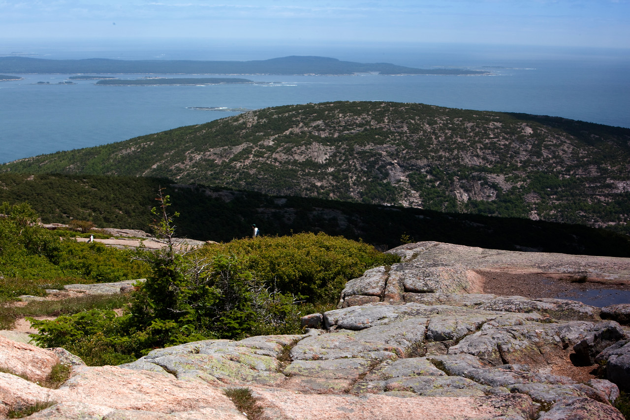 On top of Cadillac Mountain, Bar Harbor,Acadia National Park.