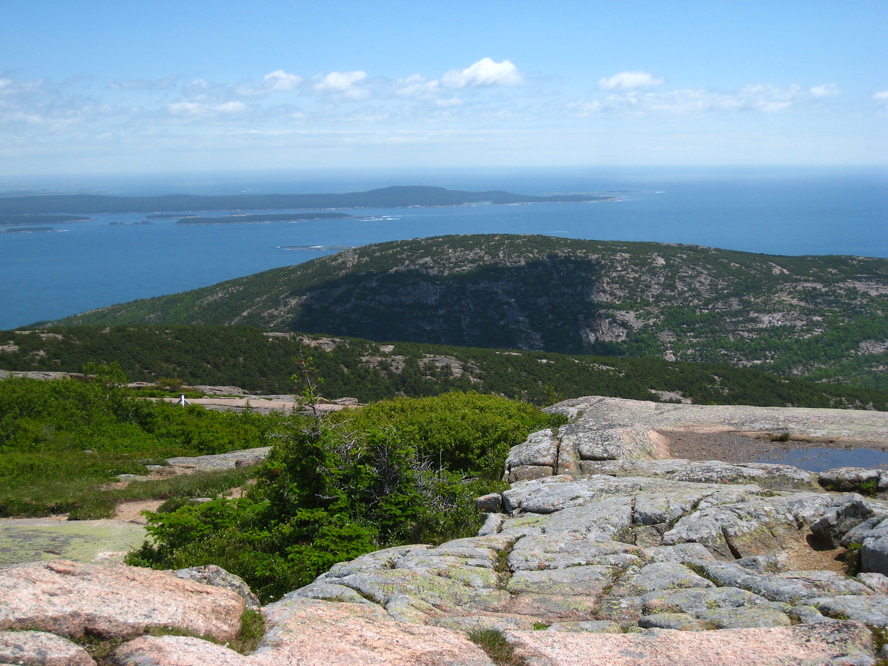 The view from  Cadillac Mountain, Bar Harbor.Acadia National Park.