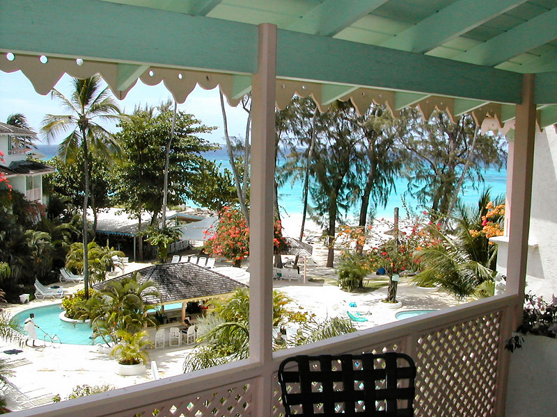 The Bougainvillea Beach Resort resides on the famed south coast of Barbados - Maxwell Coast. The balcony from our room had a great view of the pool and beach