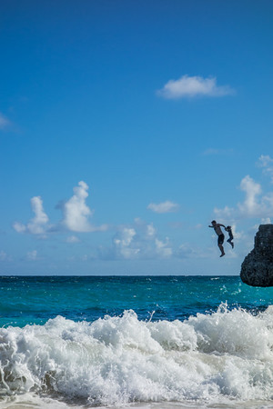 Michael and I jumping off Crane Point