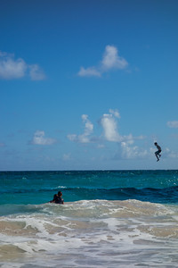 Cameron jumping off Crane Point