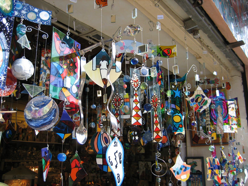 Wind chimes in Barcelona store