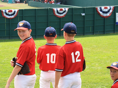 The boys watching Cody during the home run derby
