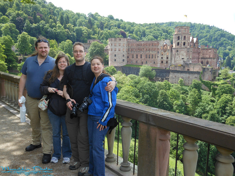 Bill, Cristina, Jim and I  by Hiedelburg castle