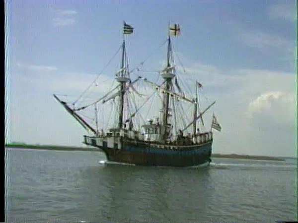 Back in the mid 1980s Tom McQuaid and I produced a half hour Real Estate Program that aired on channel 9. The program was laced with features about the Carteret County Coast. This is one of those features about the Elizabeth 2's visit to Beaufort.