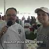 "In this video from the 2010 Beaufort Wine and Food event, Chef Charles Park of Beaufort Grocery and Shepards Point interviews chefs from area restaurants about the food they have prepared. The 2012 Beaufort Food and Wine festival is scheduled for April 25 - 29, 2012.  You can find more information about the event at  <a href=""http://www.beaufortwineandfood.com"">http://www.beaufortwineandfood.com</a> or on Facebook at Beaufort Wine."