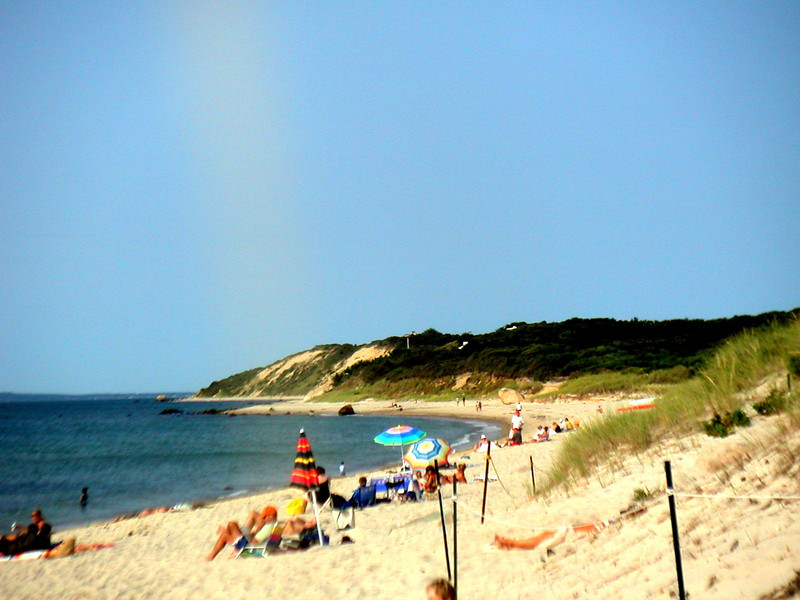 A SUMMER SATURDAY ON LAMBERTS COVE BEACH (ONE MILE FROM OUR HOUSE)