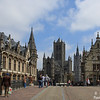 Historical centre of Ghent – from left to right: Old post office, Saint-Nicholas Church and Belfry,