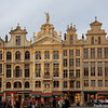 Guild Halls at the Grand Place. Each merchant guild erected its own building, which is named (no street numbers back then) and adorned with gilded statues and elaborate symbols related to its trade