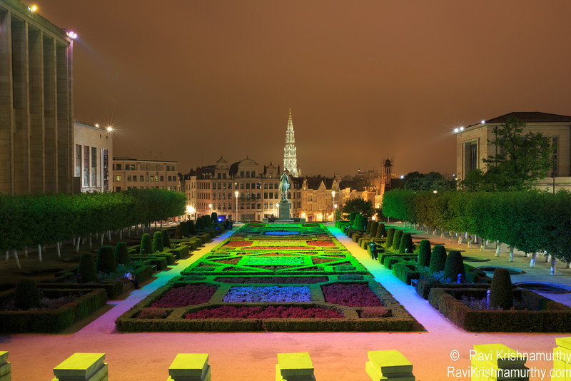 View of Brussels town hall
