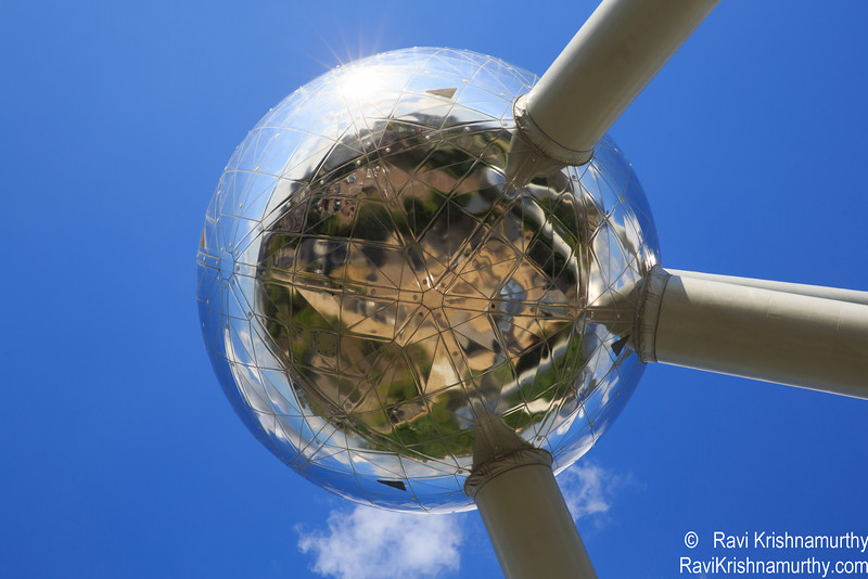 View of Atomium - Brussels