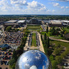 View from Atomium - Brussels