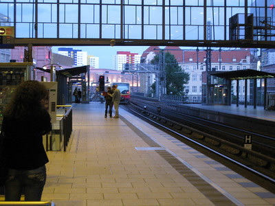The view from Alexanderplatz S-bahn station