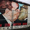 The Kiss depicts Soviet leader Leonid Brezhnev giving the East Germany President Erich Honecker what appears to be a passionate kiss on the lips. At first glance, you might think it's a complete joke, with no bearing on reality. But the image was based on an actual photograph taken in 1979 in honor of the thirtieth anniversary of the German Democratic Republic–East Germany