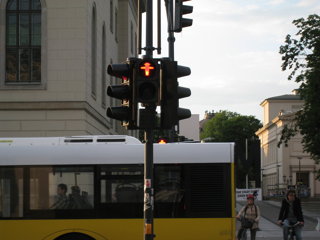 """The only real """"cute"""" thingsthat Germans are keeping as a throwback to old east Berlin are the crosswalk signals."""