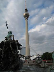 "The ""giant asparagus"" communist-era TV tower."
