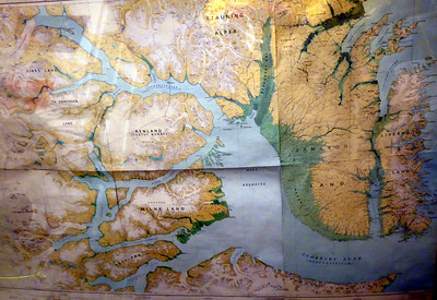 Map of Scoresby Sund the fjord system we explored for about 5 days
