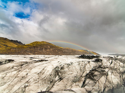 Amazing Rainbow seen from atop the glacier
