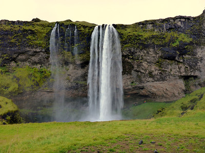Giant Waterfall in Southern Iceland
