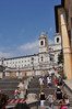 The Spanish Steps in Roma.