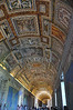 Beautiful ceiling in the Vatican Museum near the Sistine Chapel.